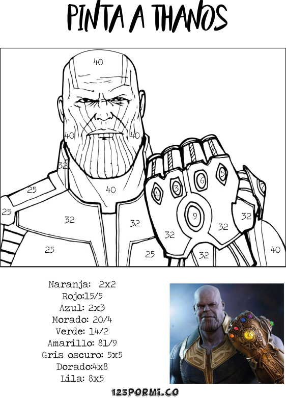 Pintar a Thanos