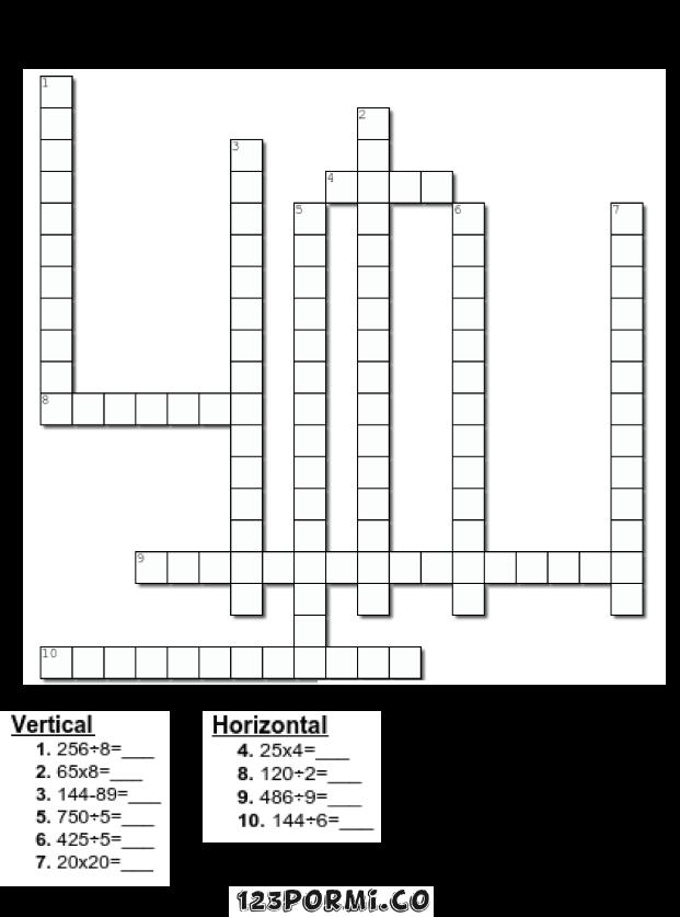 crucigrama mateamtico 2